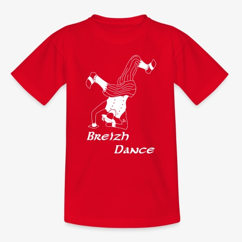 BZH Atypik Design - Breizh Dancer - T-shirt Ado