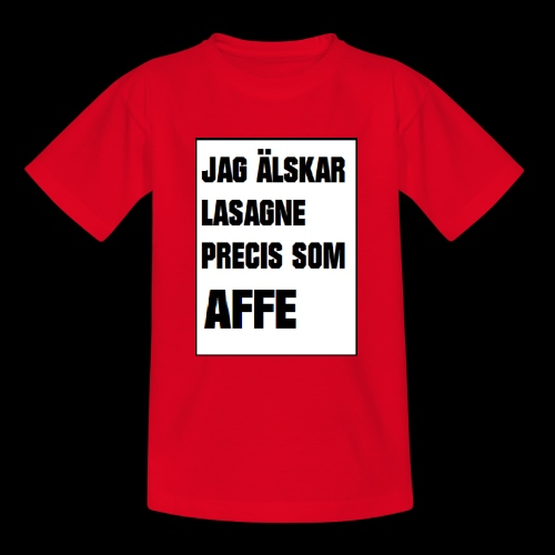 Affe älskar lasagne - T-shirt tonåring
