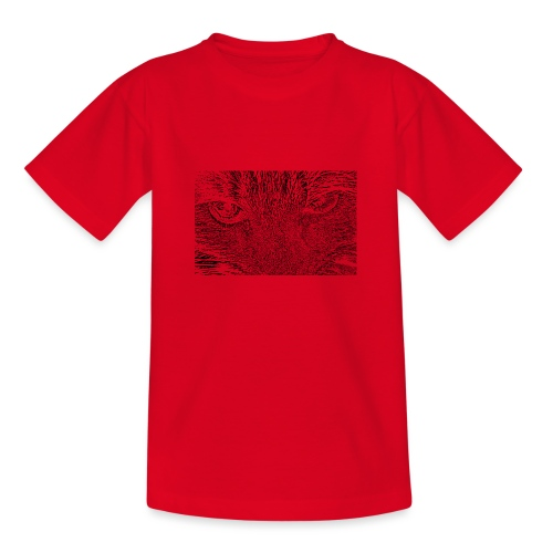 Kat kop (zwart) - Teenager T-shirt