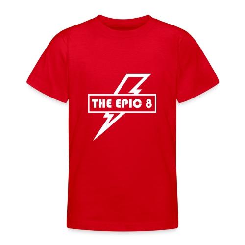 The Epic 8 - Valkoinen logo, iso - Nuorten t-paita