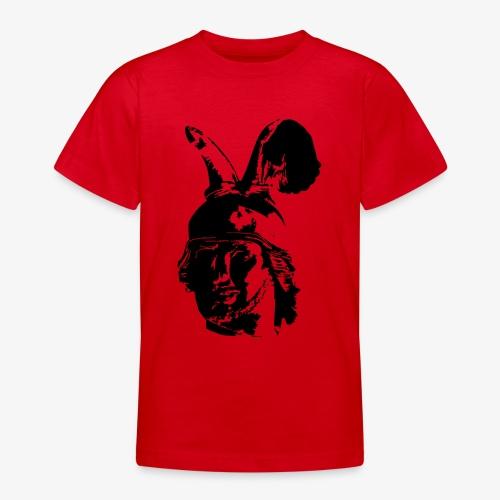 Kopf des Hermannsdenkmals - einfarbig, schlicht - Teenager T-Shirt