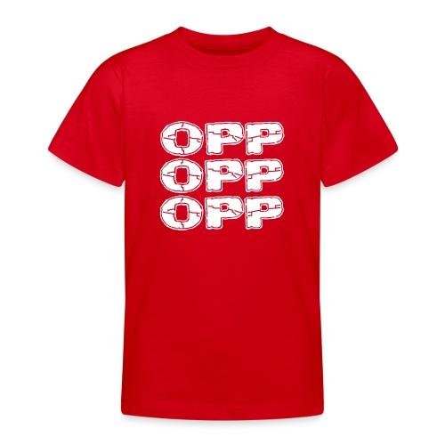 OPP Logo White - Nuorten t-paita