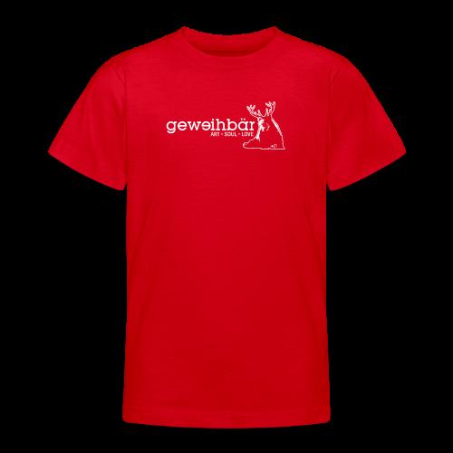 geweihbär - weiss - Teenager T-Shirt