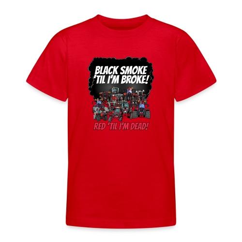 2016_black_smoke_red_IH_tshirt - Teenager T-shirt