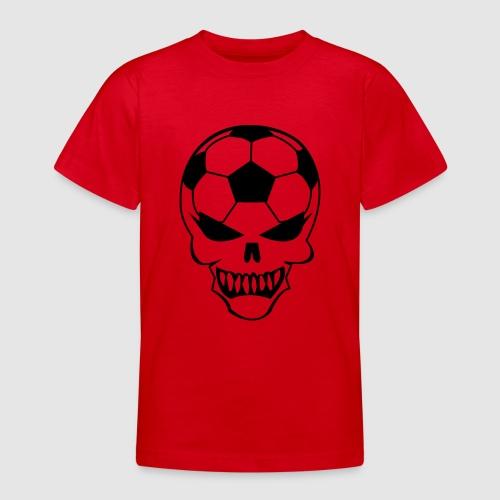 Fußball-Totenkopf - Teenager T-Shirt