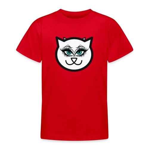 Hipster Cat Girl by T-shirt chic et choc - T-shirt Ado