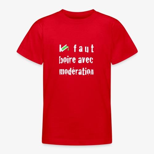 test t shirt FACE BLANC - T-shirt Ado
