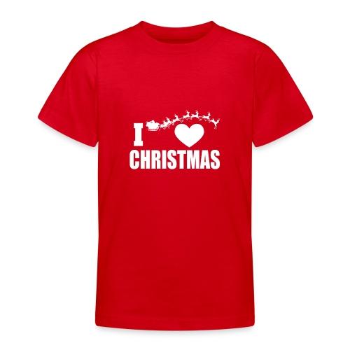 I Love Christmas Heart Natale - Maglietta per ragazzi