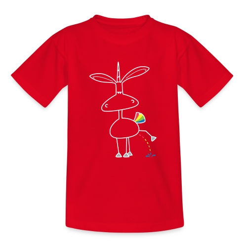 Dru - bunt pinkeln - Teenager T-Shirt