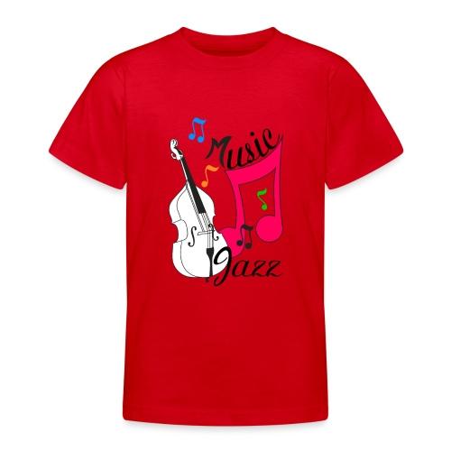 music jazz con contrabbasso - Maglietta per ragazzi