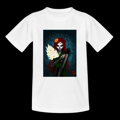 Death and lillies - Teenage T-Shirt