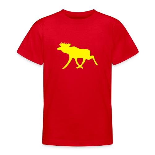 Schwedenelch; schwedisches Elch-Symbol (vektor) - Teenager T-Shirt