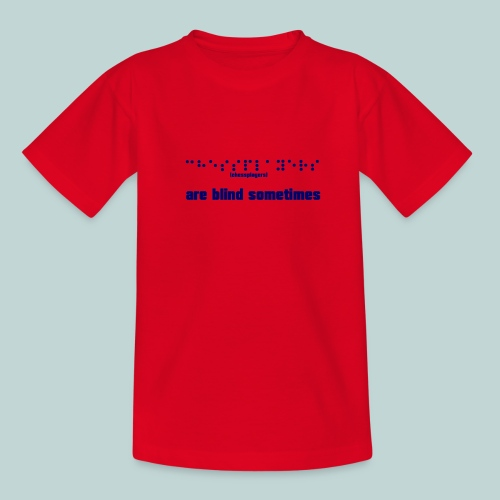 braille__chessplayers_2 - Teenager T-Shirt