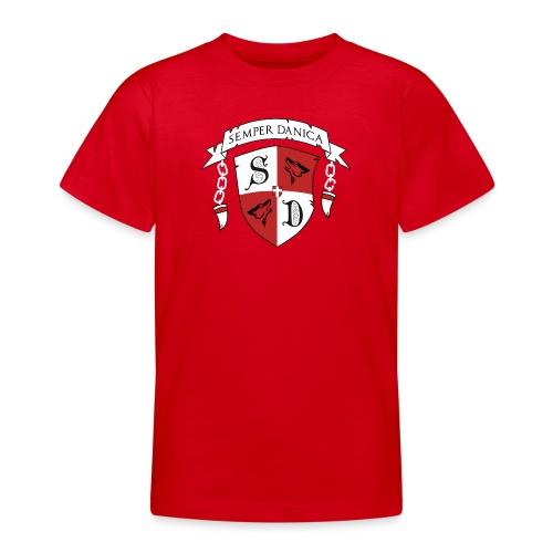 SD logo - hvide lænker - Teenager-T-shirt