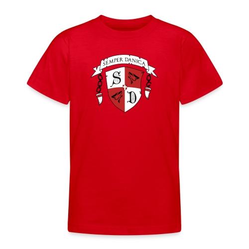 SD logo - sorte lænker - Teenager-T-shirt