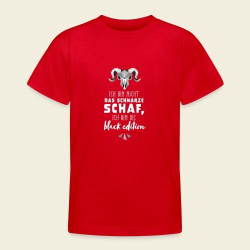 Schwarzes Schaf - black edition - Teenager T-Shirt