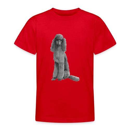 poodle standard black / kongepuddel sort - Teenager-T-shirt