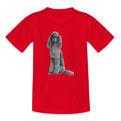 poodle standard black / kongepuddel sort - Teenager-T-shirt