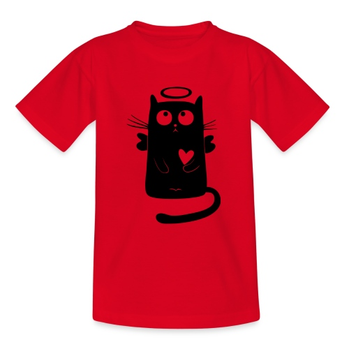 Katzengel - Teenager T-Shirt