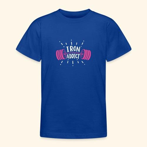 VSK Lustiges GYM Shirt Iron Addict - Teenager T-Shirt