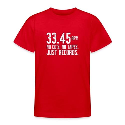 Vinyl T-Shirt | 33.45 rpm - Teenager T-Shirt