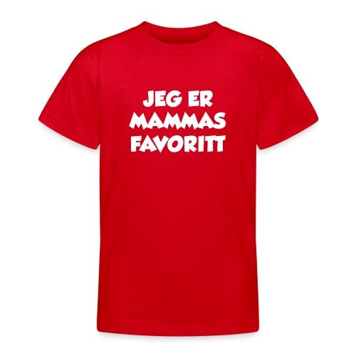 «Jeg er mammas favoritt» (fra Det norske plagg) - T-skjorte for tenåringer