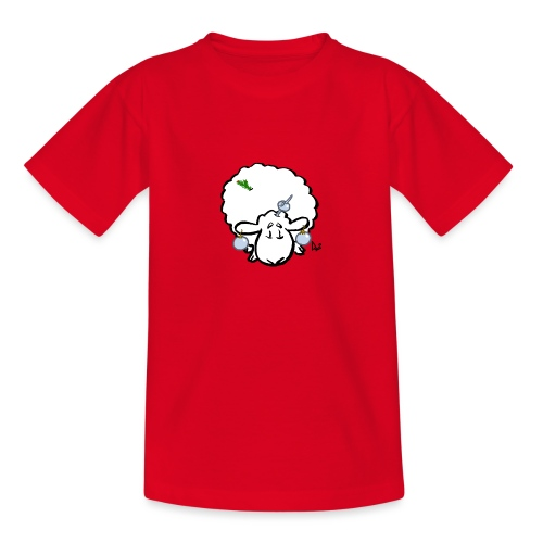 Juletre Sau - T-skjorte for tenåringer