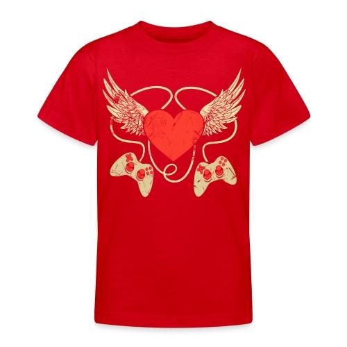 Gamer Herz - Controller - Teenager T-Shirt