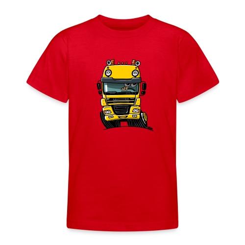 0810 D truck CF geel - Teenager T-shirt