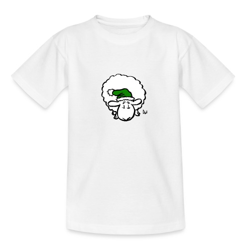 Weihnachtsschaf (grün) - Teenager T-Shirt