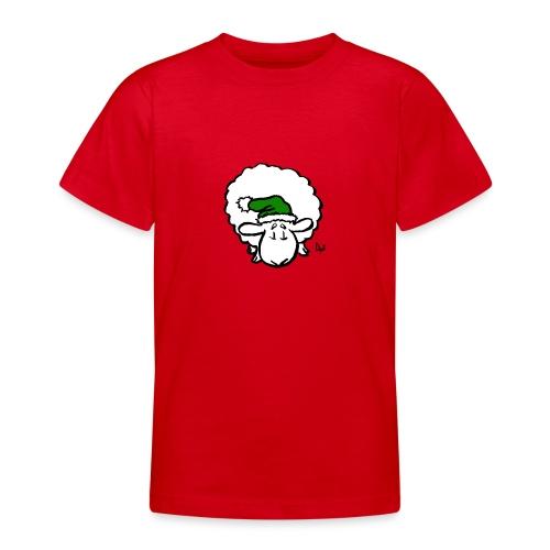 Santa Sheep (green) - T-skjorte for tenåringer