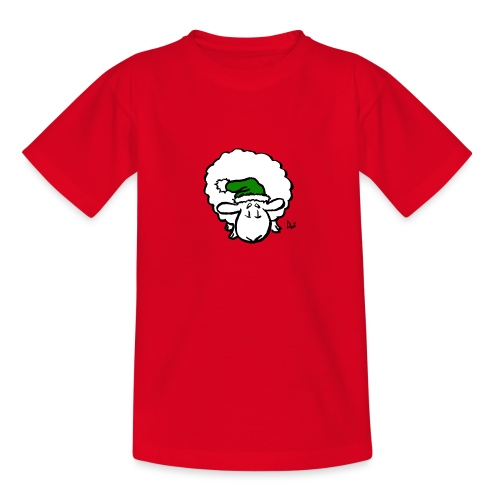 Santa Sheep (green) - Teenage T-Shirt