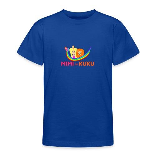 Mimi ja Kuku- sateenkaarilogolla - Nuorten t-paita