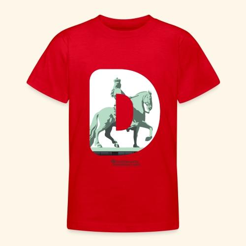 Düsseldorf T-Shirt Jan Wellem D weiß - Teenager T-Shirt