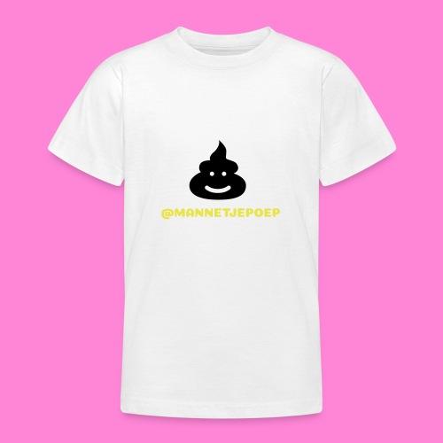 Mannetje Poep Shit - Teenager T-shirt