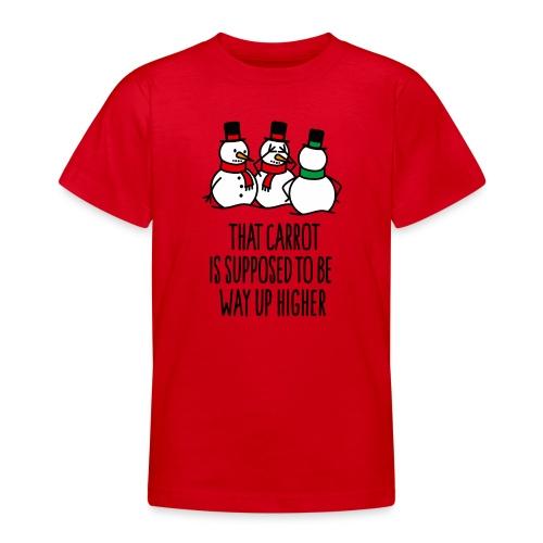 Lustige Weihnachten Geschenk Schneemann Karotte - Teenager T-Shirt