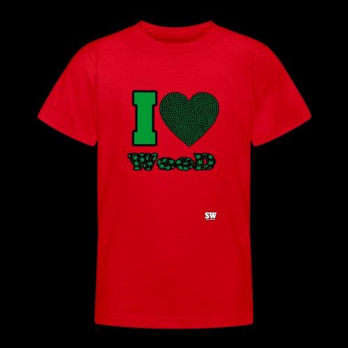 I Love weed - T-shirt Ado