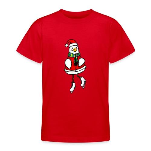 Xmas ice skating chick - Teenage T-Shirt
