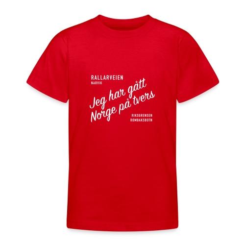 Rallarveien - Jeg har gått Norge på tvers - T-skjorte for tenåringer