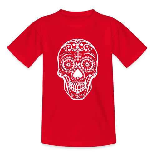 Skull white - Teenager T-Shirt