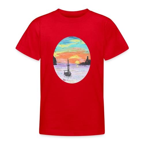 Port de Sollers Sonnenuntergang - Teenager T-Shirt