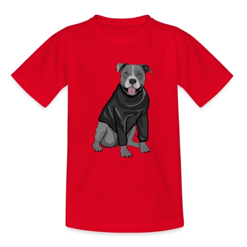 Süßer Hund Pullover Pulli Stafford Geschenk Idee - Teenager T-Shirt