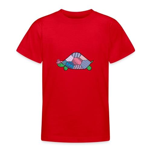 purple tortoise - Teenage T-Shirt