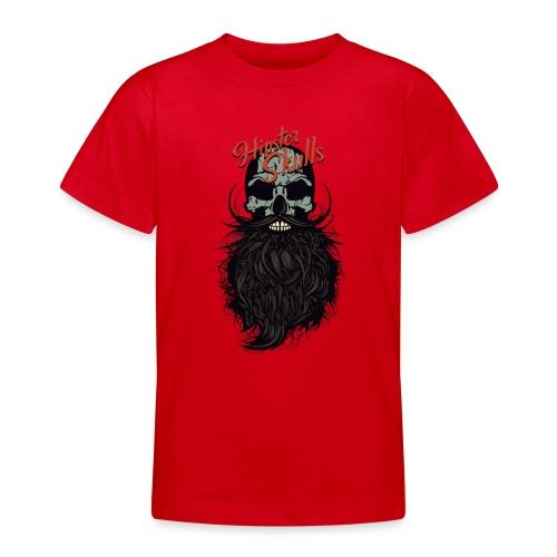 tete de mort hipster skull crane logo barbu barbe - T-shirt Ado