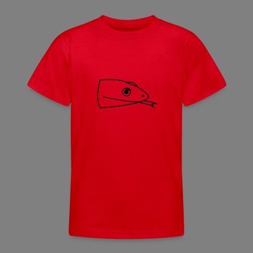 Snake logo black - Teenager T-shirt