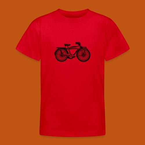 Beach Cruiser Fahrrad 01_schwarz - Teenager T-Shirt