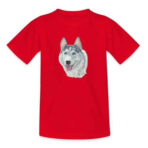 siberian husky_blueeyes - Teenager-T-shirt