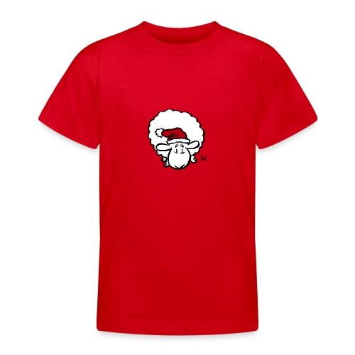 Weihnachtsschaf (rot) - Teenager T-Shirt