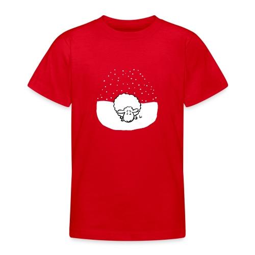 Schneebedeckte Schafe - Teenager T-Shirt
