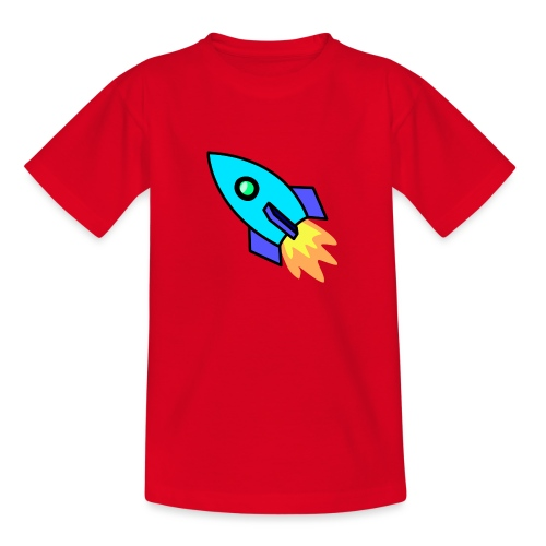Blue rocket - Teenage T-Shirt